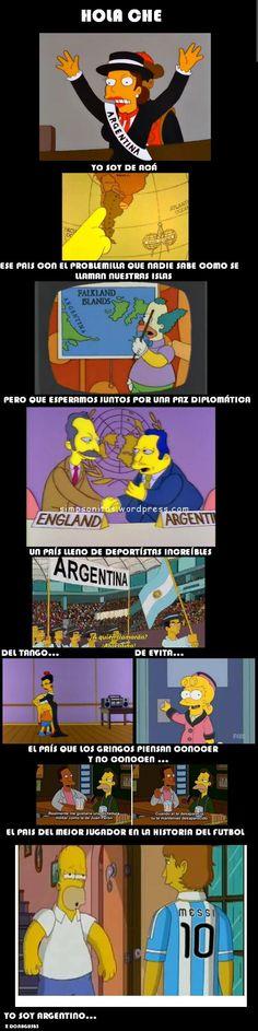 Argentina y los Argentinos segun los Simpsons