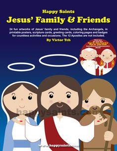 Happy Saints: Happy Saints Jesus' Family and Friends eBook