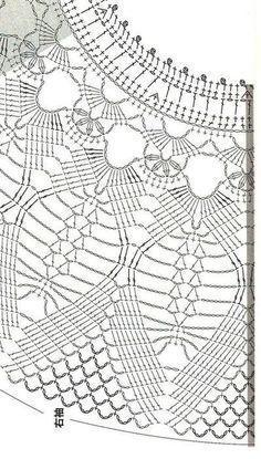 Débardeurs Au Crochet, Gilet Crochet, Crochet Diagram, Crochet Woman, Crochet Blouse, Crochet Shawl, Crochet Stitches, Free Crochet, Crochet Collar Pattern