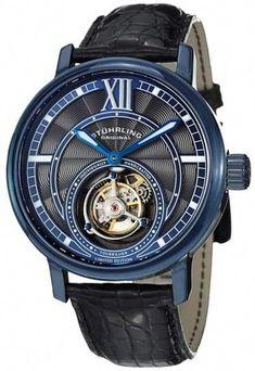 84e757b459b6 Stuhrling Original Imperium Tourbillon 396.33XX6 Stainless Steel  amp   Leather 45mm Watch  mensluxurywatchesclassy Dream