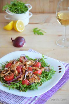 Sałatka z rukolą i kurczakiem Keto Snacks, Food Design, Bruschetta, Potato Salad, Food To Make, Salads, Food And Drink, Healthy Eating, Chicken