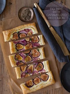 Fig Tart with Caramelized Red Onion