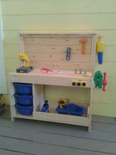 handwerks diy werkbank f r kinder werkbank f r kinder bauanleitung und f r kinder. Black Bedroom Furniture Sets. Home Design Ideas
