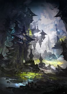 Lost Civilization, Gao ZhingPing on ArtStation at https://www.artstation.com/artwork/lost-civilization