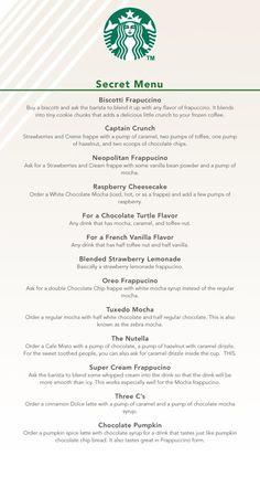The secret menu at Starbucks