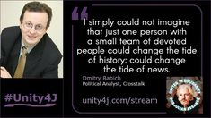 In a world of divide and conquer, unity is the ultimate act of resistance. Watch the full interview with Dmitri Babich during the Online Vigil in su. Quick Quotes, Unity, Politics, Political Books