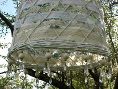 Mimbre calado y telas Lamp, Light, Lamp Shade, Lighting, Plant Decor, Upcycle Recycle, Ceiling Lights, Home Deco, Deco