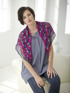 free #crochet shawl pattern, this one from @Lion Brand