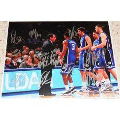 2011-12 Duke University team signed 11 x 14 photo