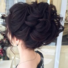 Wavy Updo For Thick Hair