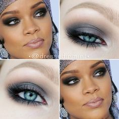 """""""#Rihanna CFDA inspired #makeup -- using @anastasiabeverlyhills BROW WIZ in ASH BLONDE -- @maybelline Color Tattoo in Permanent Taupe -- @inglot_poland 378…"""""""
