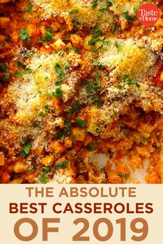 The Absolute Best Casseroles of 2019 The Absolute Best Casseroles of 2019 Source by taste_of_home Healthy Chicken Casserole, Dinner Casserole Recipes, Vegetarian Casserole, Casserole Dishes, Ritz Chicken Casserole, Hamburger Casserole, Beef Recipes, Chicken Recipes, Cooking Recipes