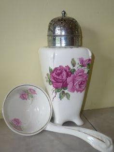 Rose sugar shaker and ladle