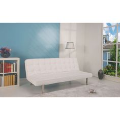 @Overstock - Add comfort and a contemporary touch to any room in your home with this Vegas futon sofa bed. This bed converts easily into a couch to entertain friends and family.http://www.overstock.com/Home-Garden/Vegas-White-Futon-Sofa-Bed/7492223/product.html?CID=214117 $659.99