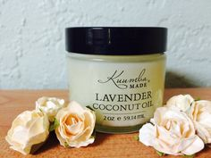 Lavender Coconut Oils by Kuumba Made are gentle, balancing, and increase blood circulation. It calms, soothes, and tones the skin. Find your jar at www.kuumbamade.com #lavender #CoconutOil #Hair #Skin #KuumbaMade