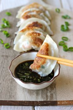 Shrimp Dumplings - Homemade dumplings are easier to make than you think, and you can completely customize your fillings! Yummy party appetizer!