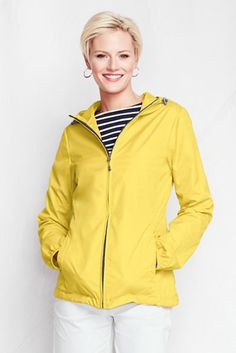Lighthouse Packable Jacket packs into its own pocket for easy toting. #LandsEnd