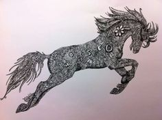 Jumping Horse Zentangle
