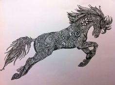 Jumping Horse Zentangle