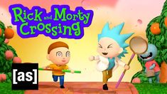 Rick and Morty Crossing | adult swim Justin Roiland, Dan Harmon, Sound Design, Rick And Morty, Storyboard, Art Direction, Savannah Chat, Animal Crossing, Pop Culture