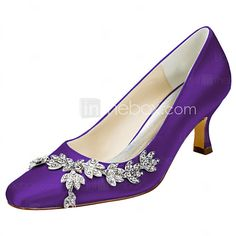 Women s Stretch Satin Spring   Fall Heels Stiletto Heel Square Toe Crystal  Royal Blue   Champagne   Ivory   Wedding   Party   Evening 256734fa1d7f