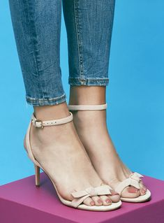 eabf9a3890ce Blush bow-detailed sandal with stiletto heel