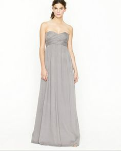 Bridesmaids gowns from J. Crew