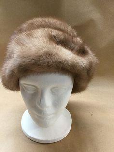 Real Fur Hat Mink Light Colored Fur by MillsVintage on Etsy