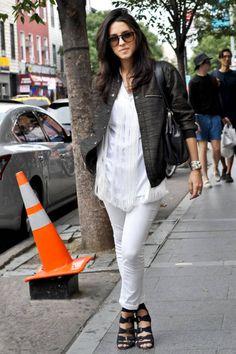 c60d11226ef Barbara in NYC wears a Maison Martin Margiela top