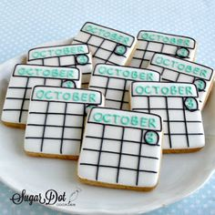 Sugar Dot Cookies: Save the Date Sugar Cookies