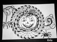halloween zentangle Pumpkin