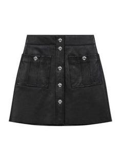 Maje Jeate Leather Stud Mini Skirt In Black Maje Clothing, Online Shopping Stores, Saks Fifth Avenue, Diane Von Furstenberg, World Of Fashion, Designer Shoes, Designer Handbags, Skater Skirt, Kids Outfits