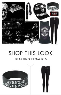 """""""Avenged Sevenfold Concert"""" by bandlover11132 ❤ liked on Polyvore featuring Paige Denim"""
