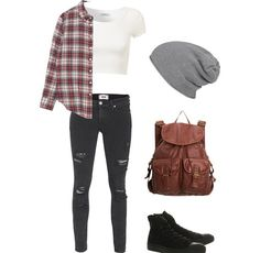Edgy outfit....SOO ME!! I want EVERY SINGLE part of this outfit :) But mayb the panys wud be high waisted