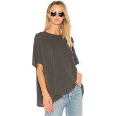 The Great The Big Tee ($95) ❤ liked on Polyvore featuring tops, t-shirts, fashion tops, distressed t shirt, destroyed t shirt, brown tee, brown t shirt and ripped tops