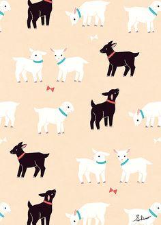 やぎ Cute Animal Drawings, Art Drawings, Rabbit Tattoos, Cute Goats, Funny Phone Wallpaper, Love Illustration, Pattern Images, Pretty Art, Textile Patterns