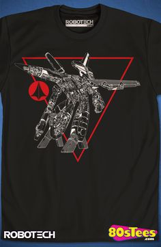 Guardian Robotech T-Shirt: Robotech Mens T-Shirt  Anime Geeks: The art and design of this illustration makes this t-shirt a must-have addition to your collection of men's fashion shirts.