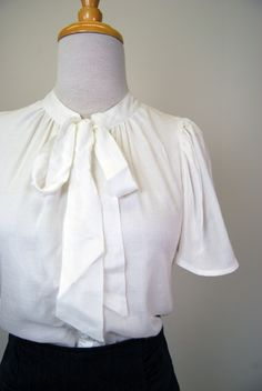 1940s Lois Secretary Blouse from reddressshoppe.com (this would be cute with a high-waisted pencil skirt)