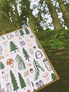 """""""And when thou art weary I'll find thee a bed, Of mosses and flowers to pillow thy head."""" – John Keats Forest Adventure, John Keats, New Forest, Wood Ornaments, Greatest Adventure, Constellations, Letterpress, Evergreen, Note Cards"""