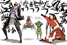 Yukimura Sanada, Mitsunari Ishida, Sarutobi Sasuke & Yoshitsugu Otani