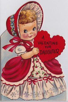 valentines greetingsVintage 1952 A Valentine For Daughter Greetings Card Valentine Wishes, Valentines Greetings, Valentine Greeting Cards, Valentine's Day Greeting Cards, Vintage Valentine Cards, Vintage Greeting Cards, Valentine Crafts, Happy Valentines Day, Valentine Ideas