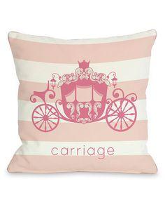 "One Bella Casa ""Carriage"" Decorative Pillow"