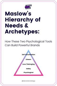 The 'Hierarchy of Needs' created by Abraham Maslow and Archetypes work together to help brand owners understand their brand and customers in new ways. Maslow's Hierarchy Of Needs, Health Retreat, Brand Archetypes, Abraham Maslow, Self Actualization, Interpersonal Relationship, Wealth Management, Social Change, Better Together