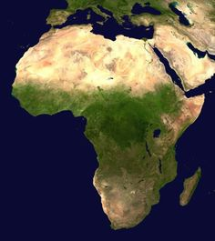 Maps of Africa: Satellite Image of Africa