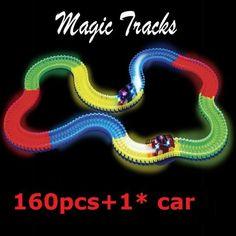 Bend, Flex & Glow Racing tracks with LED B/O Toys Car set