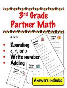 3rd Grade Partner Math - Cooperative Learning
