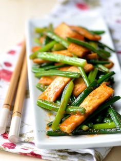 Garlic Chive with Dried Tofu, a Chinese Vegetarian Stir-Fry   Hong Kong Food Blog with Recipes, Cooking Tips mostly of Chinese and Asian styles   Taste Hong Kong