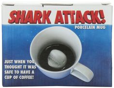 Shark Attack Porcelain Mug | I would have a heart attack every time I drank from this