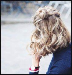 10 Half-Up Frisuren Für Kurzes und mittellanges Haar Jetzt versuchen | Einfache Frisuren