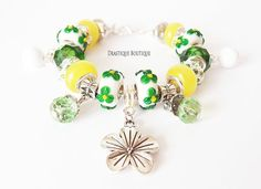 Green and Yellow Beauty by Tamara Mesenbourg on Etsy